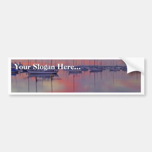 San Diego Bay Seen From The Airport Side At Sunris Car Bumper Sticker