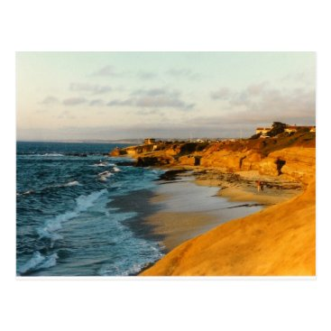 Beach Themed San Diego Beach photo postcard