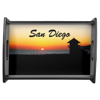San Diego Beach Sunset Food Trays