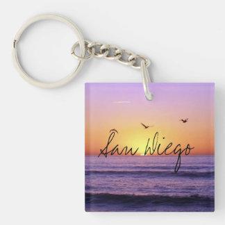 San Diego Beach Sunset Keychain