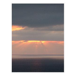 San Diego Beach Sunset Postcard