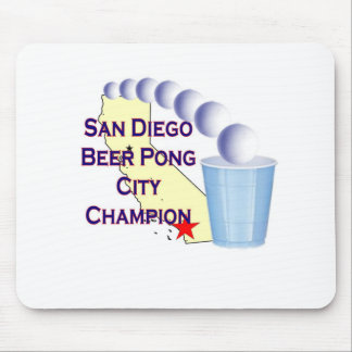San Diego Beer Pong City Champion Mouse Pad