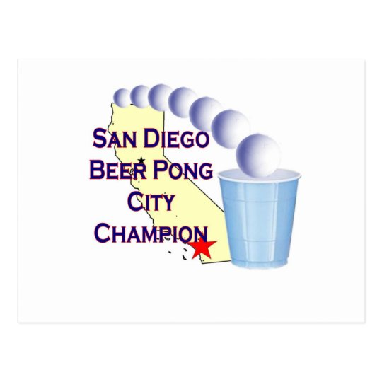 San Diego Beer Pong City Champion Postcard