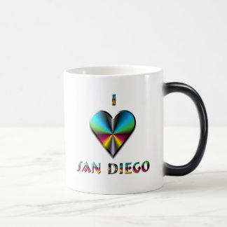 San Diego -- Blue Green & Burgundy Magic Mug