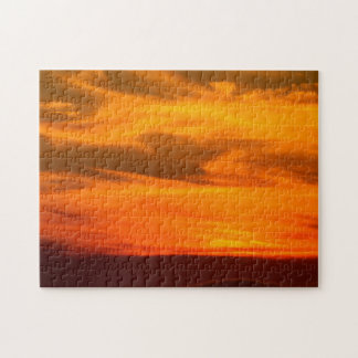 San Diego Brilliant Yellow Orange Red Sunset Jigsaw Puzzle