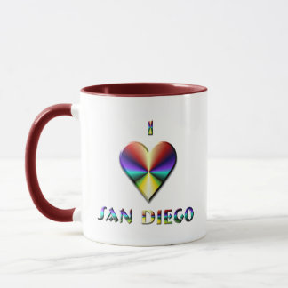 San Diego -- Brown Blue & Gold Mug