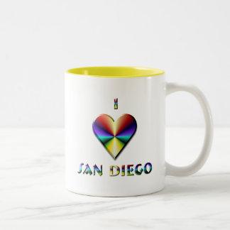 San Diego -- Brown Blue & Gold Two-Tone Coffee Mug