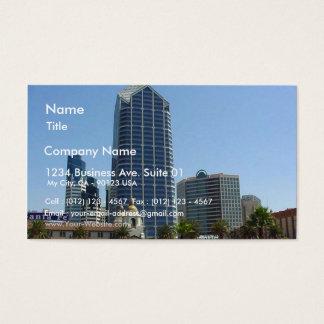 San Diego Buildings High Rise Skyline Business Card
