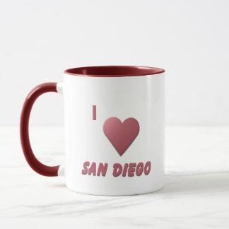 San Diego -- Burgundy Mug