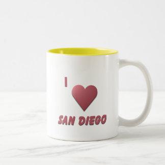 San Diego -- Burgundy Two-Tone Coffee Mug