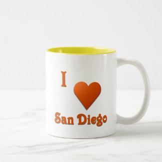 San Diego -- Burnt Orange Two-Tone Coffee Mug