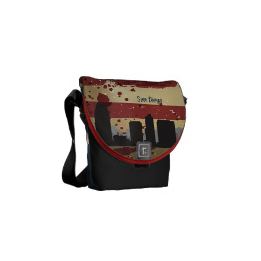 San Diego,CA American Cities CityScape Bag Courier Bags