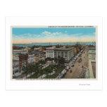 San Diego, CA - Bird's Eye View of Downtown Postcard