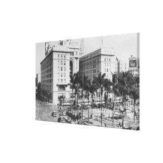 San Diego, CA City View of US Grant Hotel Canvas Print