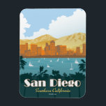 """San Diego, CA Magnet<br><div class=""""desc"""">Anderson Design Group is an award-winning illustration and design firm in Nashville,  Tennessee. Founder Joel Anderson directs a team of talented artists to create original poster art that looks like classic vintage advertising prints from the 1920s to the 1960s.</div>"""