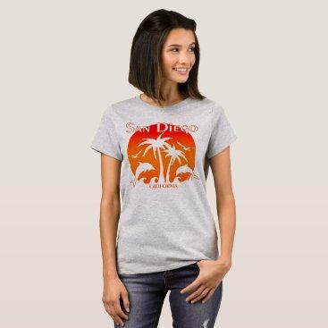 Beach Themed San Diego, CA Orange T-Shirt