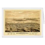 San Diego, CA Panoramic Map - 1876 Greeting Card
