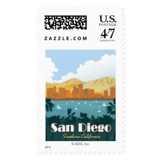 San Diego, CA Postage Stamp