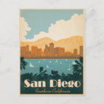 """San Diego, CA Postcard<br><div class=""""desc"""">Anderson Design Group is an award-winning illustration and design firm in Nashville,  Tennessee. Founder Joel Anderson directs a team of talented artists to create original poster art that looks like classic vintage advertising prints from the 1920s to the 1960s.</div>"""