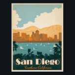 "San Diego, CA Postcard<br><div class=""desc"">Anderson Design Group is an award-winning illustration and design firm in Nashville,  Tennessee. Founder Joel Anderson directs a team of talented artists to create original poster art that looks like classic vintage advertising prints from the 1920s to the 1960s.</div>"