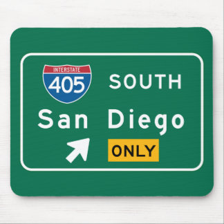 San Diego, CA Road Sign Mouse Pad