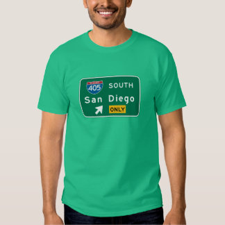 San Diego, CA Road Sign T-shirt