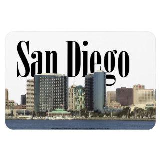 San Diego CA Skyline with San Diego in the Sky Rectangular Photo Magnet