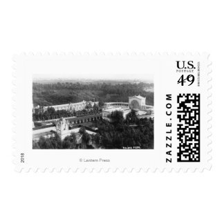 San Diego, CA View of Balboa Park Photograph Postage Stamp