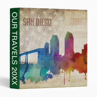 San Diego, CA | Watercolor City Skyline Binder