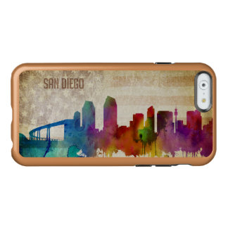 San Diego, CA | Watercolor City Skyline Incipio Feather Shine iPhone 6 Case