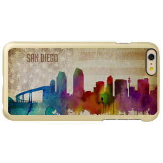 San Diego, CA | Watercolor City Skyline Incipio Feather Shine iPhone 6 Plus Case