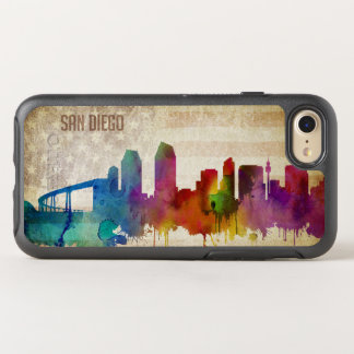 San Diego, CA | Watercolor City Skyline OtterBox Symmetry iPhone 8/7 Case