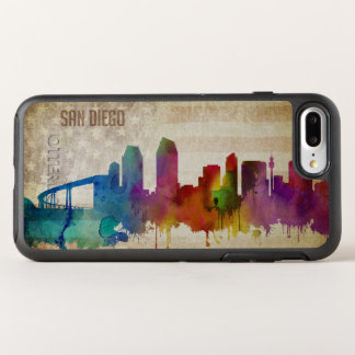 San Diego, CA | Watercolor City Skyline OtterBox Symmetry iPhone 8 Plus/7 Plus Case