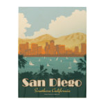 San Diego, CA Wood Print