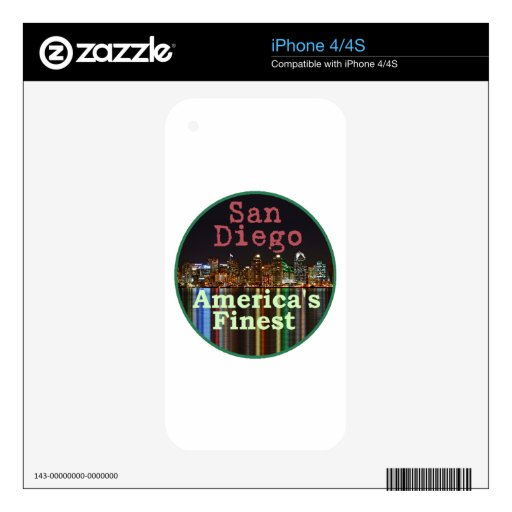 San Diego Calcomanías Para El iPhone 4S