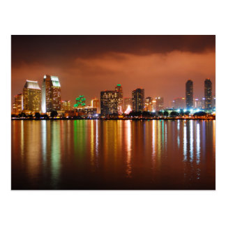 San Diego California at Night Postcards