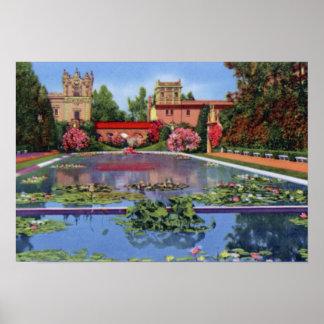 San Diego California Balboa Park Poster