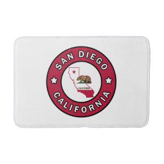 San Diego California Bathroom Mat