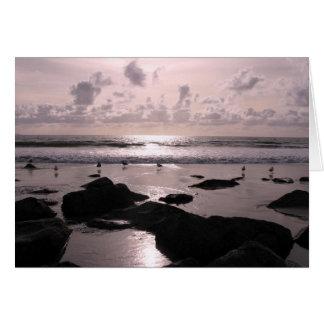San Diego California beach sunset Greeting Cards