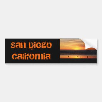 San Diego     California Etiqueta De Parachoque