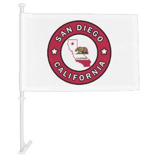 San Diego California Car Flag