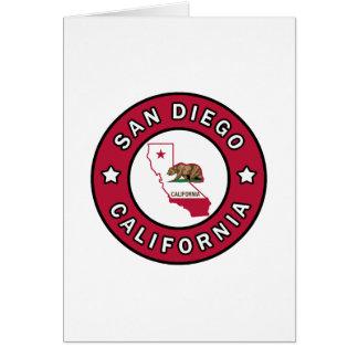 San Diego California Card