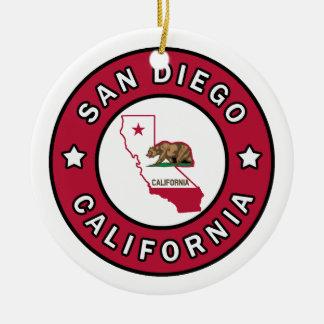 San Diego California Ceramic Ornament