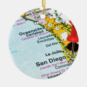 San Diego, California Ceramic Ornament
