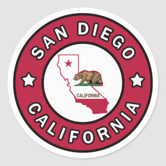 San Diego California Classic Round Sticker