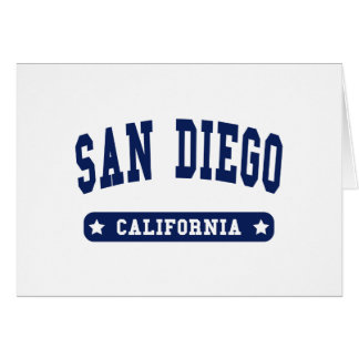 San Diego California College Style tee shirts Greeting Cards