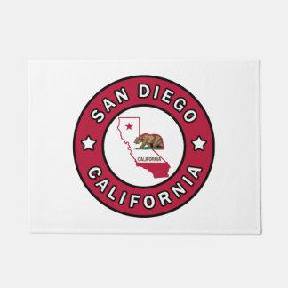 San Diego California Doormat