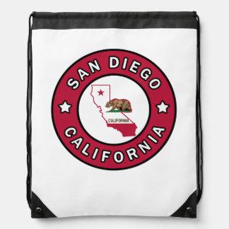 San Diego California Drawstring Backpack