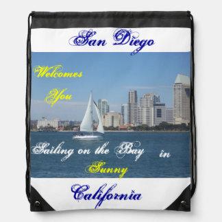 San Diego California Drawstring backpack Drawstring Bags
