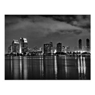San Diego California en la noche Postal